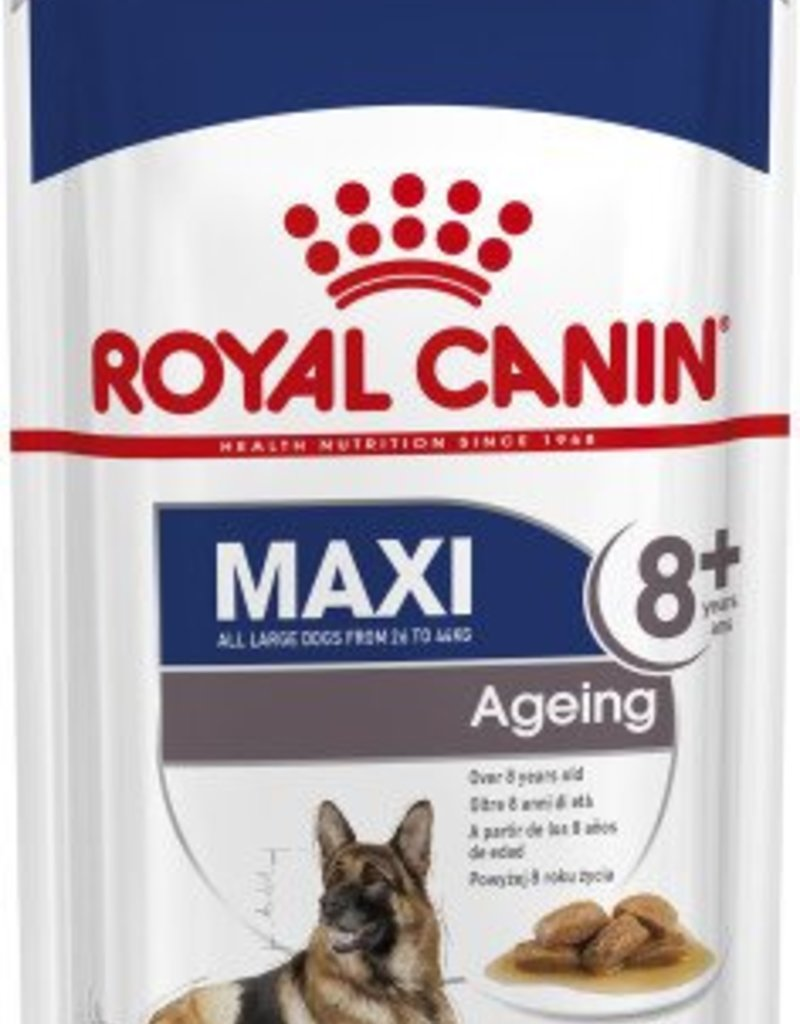 Royal Canin Maxi Ageing 8+ Dog Wet Food Pouch 140g, Box of 10