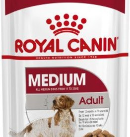Royal Canin Medium Adult Dog Wet Food Pouch 140g, Box of 10