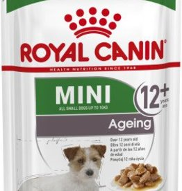 Royal Canin Mini Ageing 12+ Senior Dog Wet Food Pouch, 85g, box of 12