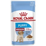Royal Canin Medium Puppy Wet Food Pouch, 140g, box of 10