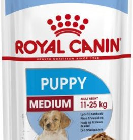 Royal Canin Medium Puppy Wet Food Pouch 140g, Box of 10