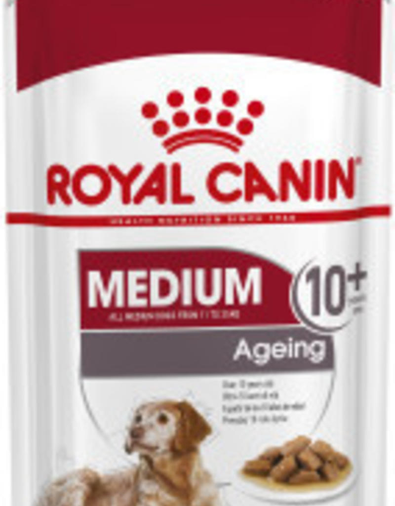 Royal Canin Medium Ageing 10+ Dog Wet Food Pouch 140g, Box of 10