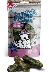 Dog gone fishin' 100% Dried Fish White Fish Niblets Dog Treats 75g