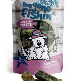 Dog gone fishin' 100% Dried Fish White Fish Niblets Dog Treats 75g