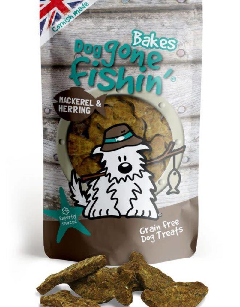 Dog gone fishin' Bakes Mackerel & Herring Dog Treats 75g