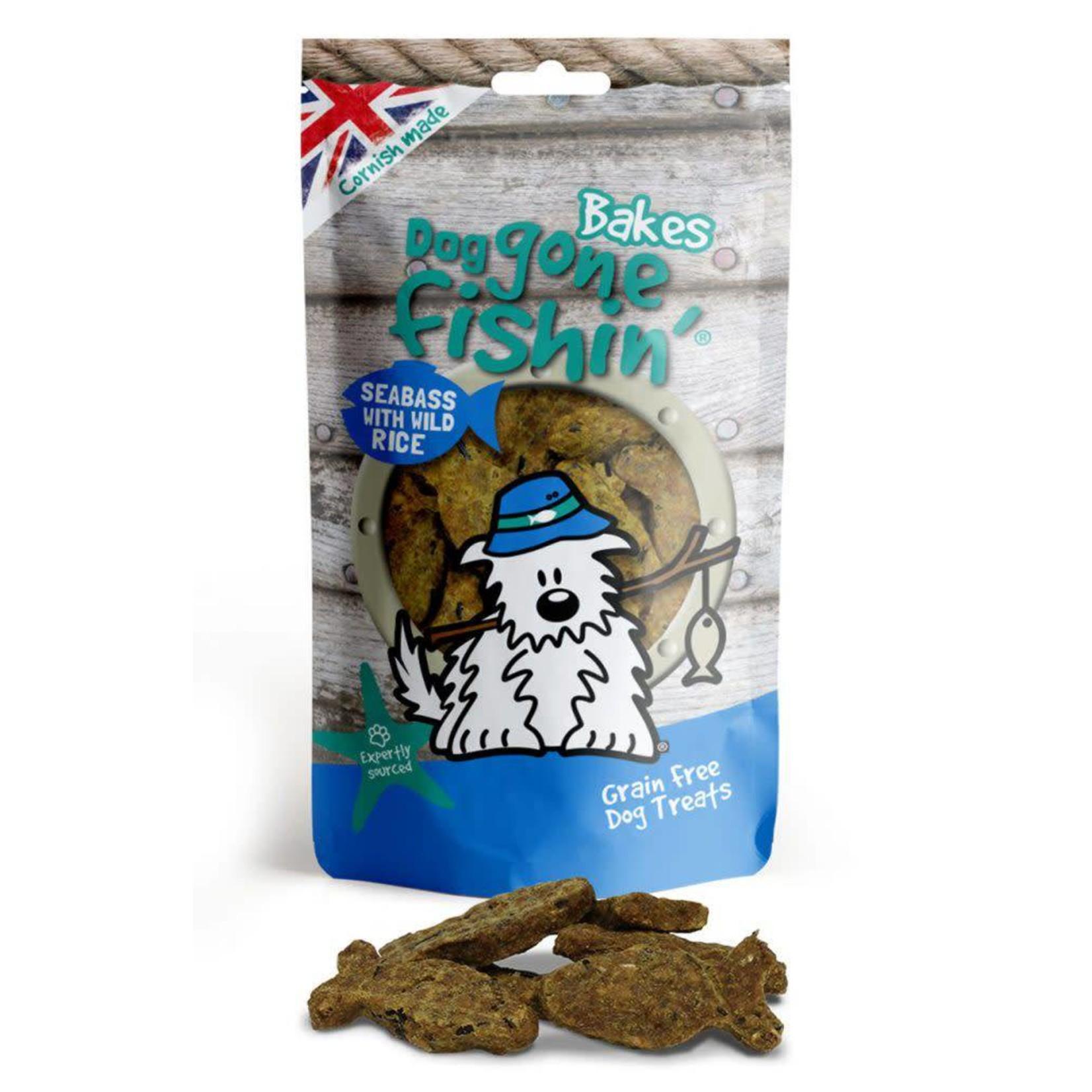 Dog gone fishin' Bakes Seabass & Wild Rice Dog Treats 75g
