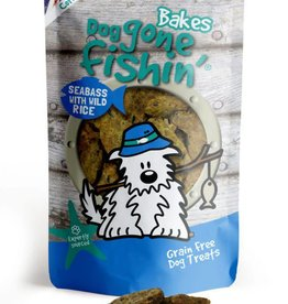 Dog gone fishin' Bakes Seabass & Wild Rice Dog Treats 75g