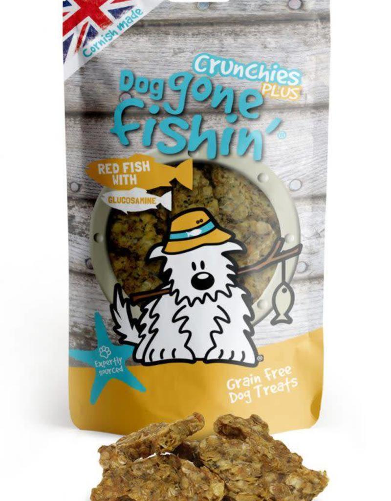 Dog gone fishin' Crunchies Plus Red Fish with Glucosamine Dog Treats 75g