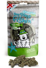 Dog gone fishin' Crunchies Plus White Fish with Green Lipped Mussels Dog Treats 75g