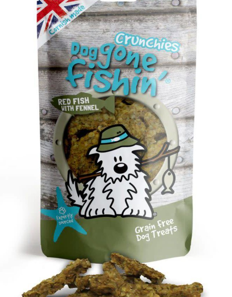 Dog gone fishin' Crunchies Red Fish with Fennel Dog Treats 75g