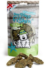 Dog gone fishin' Crunchies White & Red Fish with Chamomile Dog Treats 75g