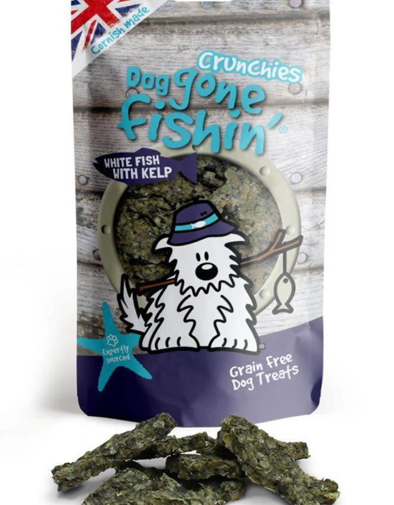 Dog gone fishin' Crunchies White Fish with Kelp Dog Treats 75g