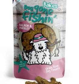 Dog gone fishin' Bakes Salmon & Parsley Dog Treats 75g