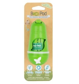 Beco Bamboo Pod Poop Bag Dispenser, Green