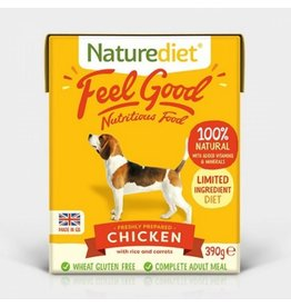 Naturediet Feel Good Adult Dog Wet Food, Chicken, 390g