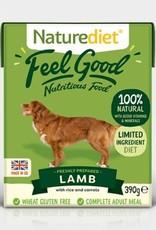 Naturediet Feel Good Adult Dog Wet Food, Lamb, 390g
