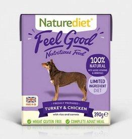 Naturediet Feel Good Adult Dog Wet Food, Turkey & Chicken, 390g