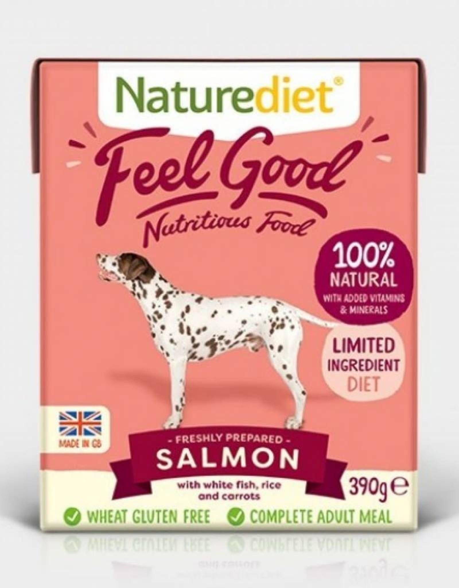 Naturediet Feel Good Adult Dog Wet Food, Salmon, 390g