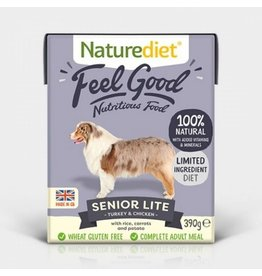 Naturediet Feel Good Senior Lite Dog Wet Food, Turkey & Chicken, 390g