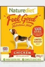 Naturediet Case of Feel Good Wet Dog Food, Chicken 18 x 390g