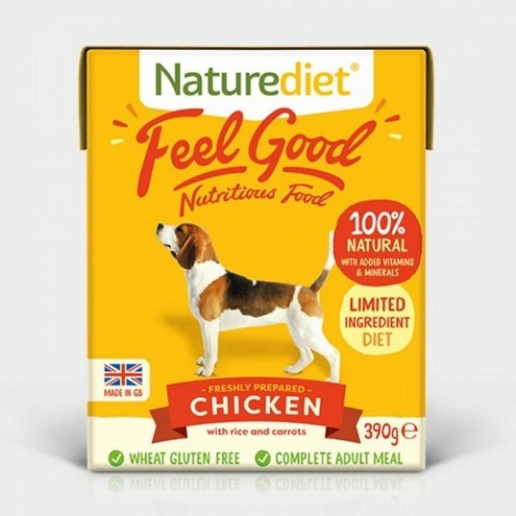 Naturediet Case of Feel Good Adult Dog Wet Food, Chicken, 18 x 390g