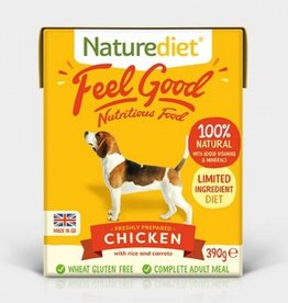 Naturediet Case of Feel Good Wet Dog Food, Chicken 18 x 390g