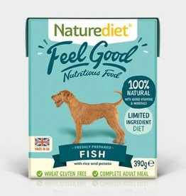Naturediet Case of Feel Good Wet Dog Food, Fish 18 x 390g