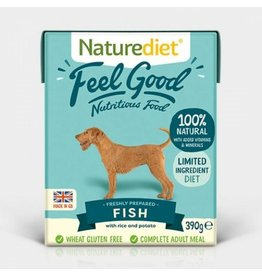 Naturediet Case of Feel Good Adult Dog Wet Food, Fish, 18 x 390g
