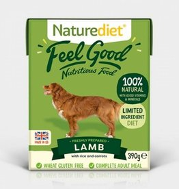 Naturediet Case of Feel Good Wet Dog Food, Lamb 18 x 390g