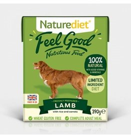 Naturediet Case of Feel Good Adult Dog Wet Food, Lamb, 18 x 390g