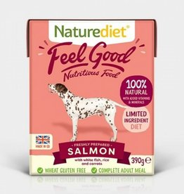 Naturediet Case of Feel Good Wet Dog Food, Salmon 18 x 390g