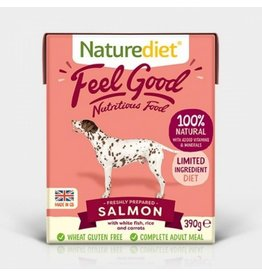 Naturediet Case of Feel Good Adult Dog Wet Food, Salmon, 18 x 390g