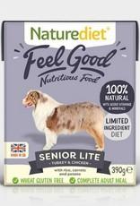 Naturediet Case of Feel Good Senior Lite Dog Wet Food, Turkey & Chicken, 18 x 390g