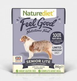 Naturediet Case of Feel Good Senior Lite Dog Wet Food, Turkey & Chicken, 18 x 390g