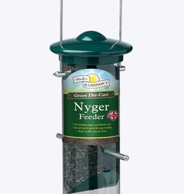 Harrisons Green Die-Cast Aluminium Nyger Seed Bird Feeder