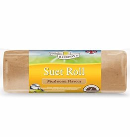 Harrisons Suet Roll with Mealworms for Wild Birds, 500g