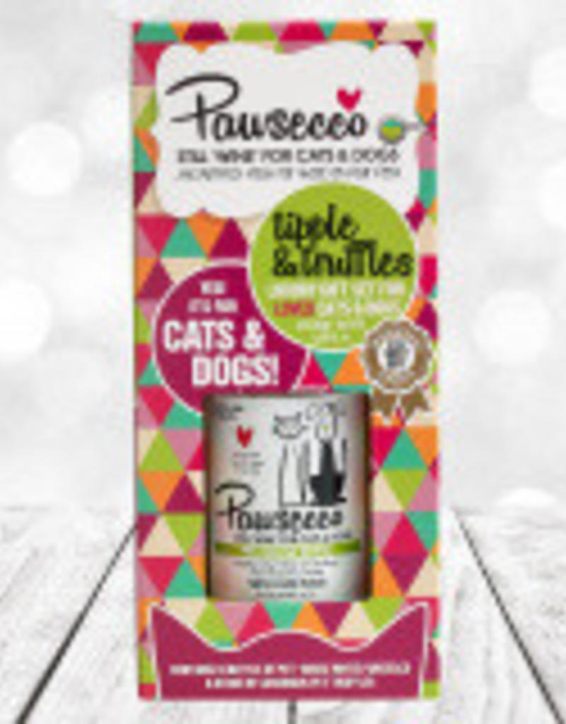 Woof&Brew Pawsecco Wine and Truffles Gift Set for Cats & Dog