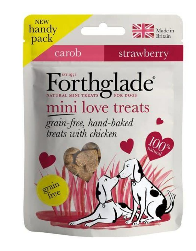 Forthglade Mini Love Treats with Carob and Strawberry 50g
