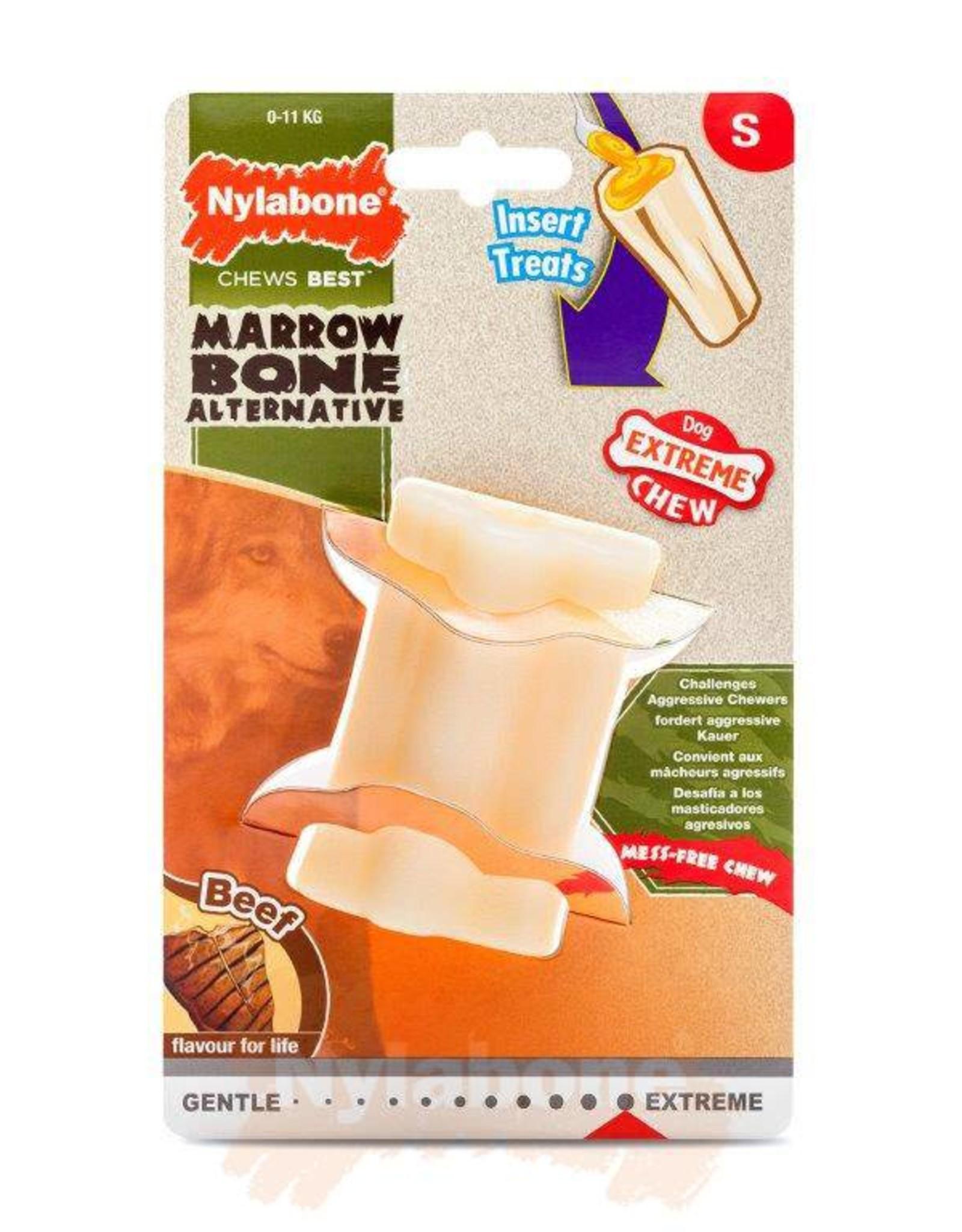 Nylabone Extreme Chew Marrow Bone Beef Dog Chew Toy, Small