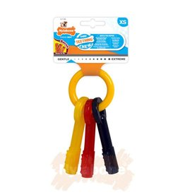 Nylabone Puppy Teething Keys Bacon Dog Chew X Small