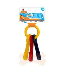 Nylabone Puppy Teething Keys Dog Chew Toy, Bacon, X Small