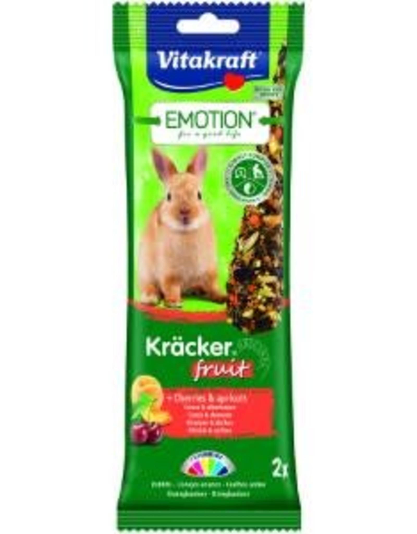Vitakraft Emotion Rabbit Treats with Fruit, 2 Sticks