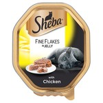 Sheba Fine Flakes Adult & Senior Cat Wet Food with Chicken in Jelly, 85g