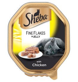 Sheba Wet Cat Food Fine Flakes with Chicken in Jelly 85g