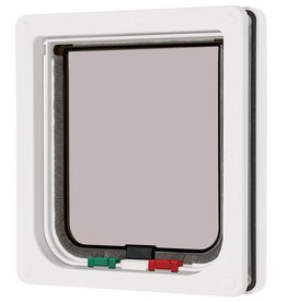 Pet Mate Cat Mate 4 Way Locking Cat Flap, White