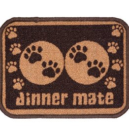 Pet Rebellion Mini Mate Small Absorbent Food Mat, Brown 30x40cm