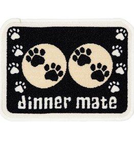 Pet Rebellion Mini Mate Small Absorbent Pet Food Mat, Black 30x40cm