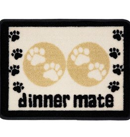 Pet Rebellion Mini Mate Small Absorbent Pet Food Mat, Cream 30x40cm