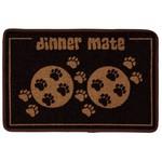Pet Rebellion Dinner Mate Large Absorbent Pet Food Mat, Brown 40cm x 60cm