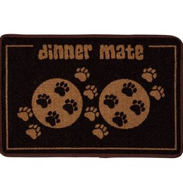 Pet Rebellion Dinner Mate Large Absorbent Pet Food Mat, Brown 40cm x 60cm